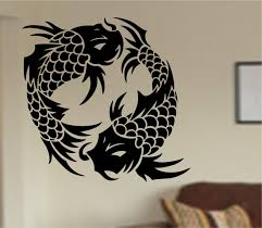 koi fish wall decal sticker art decor bedroom design mural zoom