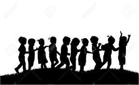free silhouette images group of children u0027s silhouettes royalty free cliparts vectors