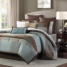 Blue And Brown Bed Sets Home Essence Daniel 8 Jacquard Comforter Bedding Set