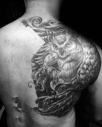 40 owl back designs for cool bird ink ideas