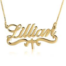 Gold Plated Name Necklace Gold Plated Name Necklace Best Necklace Design 2017