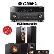 compact home theater receiver yamaha rx a660bl 7 2 channel network av receiver klipsch hd 300