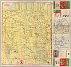 Texas Highway Map Road Map N U0026 S Dakota David Rumsey Historical Map Collection