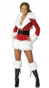 fur christmas womens sleeve fur christmas santa costume