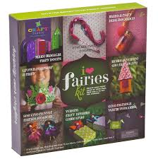 amazon com craft tastic i love fairies kit craft kit makes 8