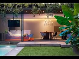 modern concrete house design with amazing lighting interior design