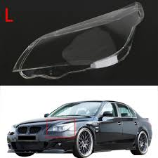 replaces car headlight lens front head lamp cover for bmw e60 m5