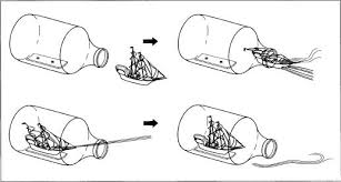 ship in a how ship in a bottle is made history used parts