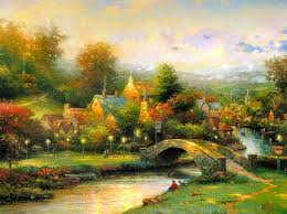 thomas kinkade lamplight village print for for thomas kinkade lamplight village painting and frame at ships in 24 hours