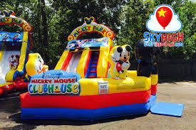 mickey mouse clubhouse bounce house mickey playzone toddler water slide sky high party rentals