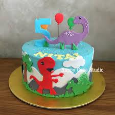 dinosaur cakes dinosaur cake for nitai s 5th happy cake studio