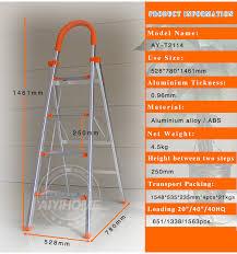 lightweight folding aluminum ladder domestic aluminium folding