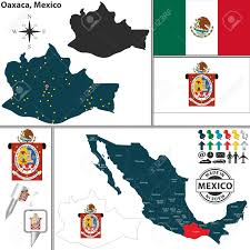 Oaxaca Mexico Map by Vector Map Of State Oaxaca With Coat Of Arms And Location On