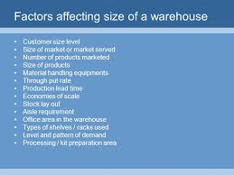 warehouse layout factors l 5 distribution channel warehousing and inventory management