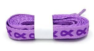 ribbon shoelaces purple awareness ribbon shoelaces