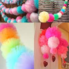 tulle pom poms 5pcs diy 4 6 8 10 tulle pom poms balls for wedding party