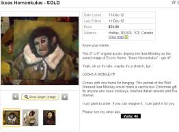 Monkey Jesus Meme - ikea monkey becomes art on kijiji 674 you suck at kijiji