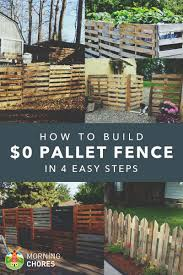 Fencing Ideas For Small Gardens How To Build A Pallet Fence For Almost 0 And 6 Plans Ideas