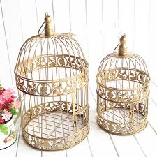 birdcages for wedding european gold vintage birds cage fashion cinnamon iron birdcage