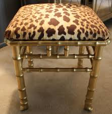 gold vanity stool leopard vanity chair