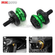 10mm swingarm spools sliders for kawasaki ninja zx6r zx7r zx9r
