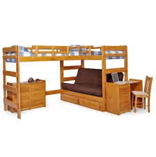 Wood Futon Bunk Bed Plans by Wood Bunk Bed With Futon Roselawnlutheran