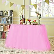 amazon com stuffwholesale tutu table skirt baby shower birthday