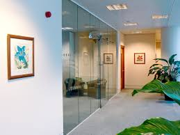 frameless glass partitioning photos