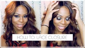 how to sew in your lace closure no hair out