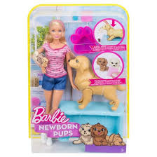 barbie newborn pups doll playset target