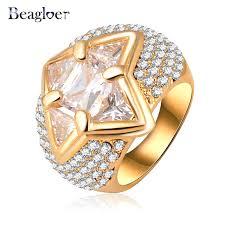 aliexpress buy beagloer new arrival ring gold beagloer ring luxury women finger ring gold color clear austrian