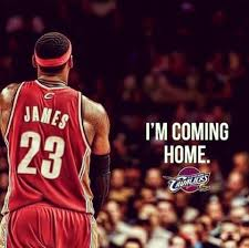 Home James by Lebron James I U0027m Coming Home Back To Cleavland Ohio