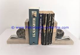 marble bookends plaques shaped handcarved unique designs natural