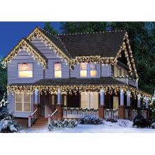 time icicle light set green wire clear bulbs 300 count