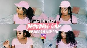 hairstyles that can be worn curly baseball cap hairstyles ways to wear instagram inspired youtube