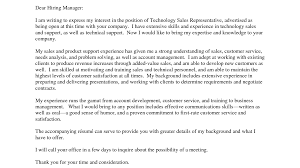 sample cover letter for technical support choice image letter