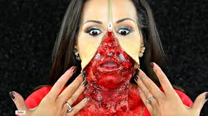 zipper face gory halloween fx makeup tutorial jassirabeauty