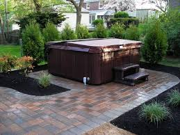 tub landscaping privacy backyard ideas pictures with appealing