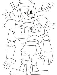 free printable robot coloring pages for kids regarding coloring