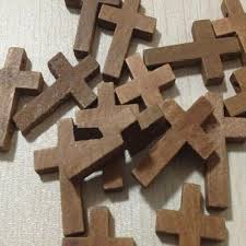 small wood crosses 20pcs lot 2 3cm cross wooden jesus pendant charms small