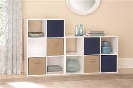 Closetmaid White 6 Cube Storage Unit With Closetmaid Organizer And White Finish