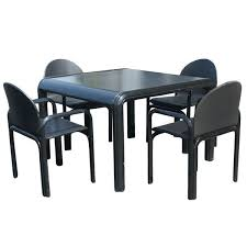 Dining Table And Chair Sale Gae Aulenti For Knoll Dining Table And Four Chairs For Sale At 1stdibs
