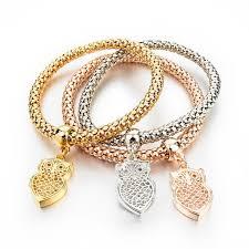 fashion charm bracelet images Fashion charm bangles bracelets gold rose gold silver for jpg