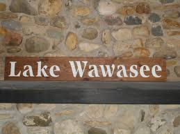 lake wawasee hand painted rustic wood sign home decor farmhouse