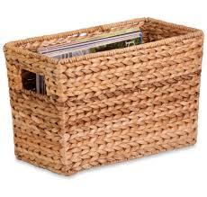 wicker baskets and wicker storage bins organize it