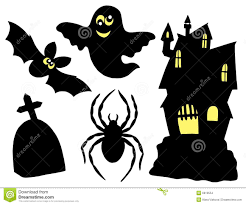halloween silhouettes collection stock images image 6619554