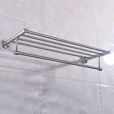 wall mounted towel rack brushed stainless steel bathroom bath
