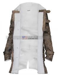 Dark Knight Halloween Costume Warriors Movie Blue Waxed Leather Vest Halloween Costume