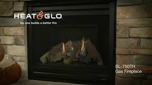 heat u0026 glo slimline sl 750tr gas fireplace video youtube