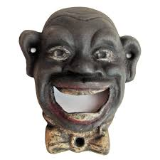 unique wall mounted bottle openers antique style cast iron bottle opener smiling black man